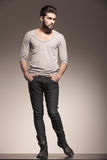 Male model with beard in a fashion pose Royalty Free Stock Photo