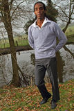 Male model in casual clothing Stock Photos
