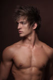 Male model clouse-up Royalty Free Stock Images