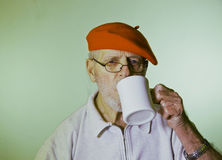 Male Model Drinking Coffee Royalty Free Stock Photo