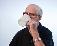 Male Model Drinking Coffee Royalty Free Stock Images