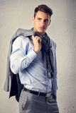 Male model in fashion suit Royalty Free Stock Photo