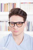 Male model with glasses posing Royalty Free Stock Photography