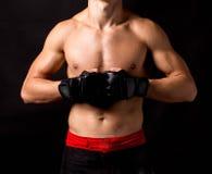 Male model. Kickboxing. Royalty Free Stock Photo
