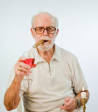 Male Model Making A Toast Royalty Free Stock Images