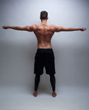 Male model with muscular back Royalty Free Stock Photo