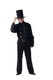 Male model posing in costume of chimney sweep Royalty Free Stock Photo