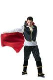 Male model posing in costume of illusionist Royalty Free Stock Photo