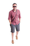 Male model posing with summer clothing and shades Stock Image
