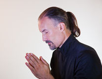 Male Model Praying Royalty Free Stock Image