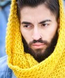 Male model with scarf Royalty Free Stock Photography