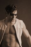 Male model with shades Royalty Free Stock Photo