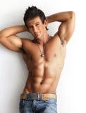 Male model shirtless Stock Photos