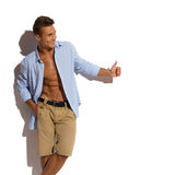 Male Model Showing Thumb Up royalty free stock photo