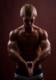 male model sport arkivbilder