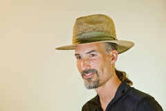 Male Model With Summer Hat; Royalty Free Stock Photo