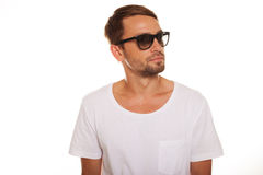 Male model with sunglasses Royalty Free Stock Photography