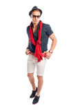 Male model wearing fancy but casual summer clothes Stock Photo