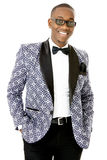 Male Model wearing Formal Traditional Suit Stock Image
