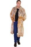 Male model wearing a fur coat Stock Image