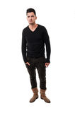 Male model wearing a sweater Royalty Free Stock Photography