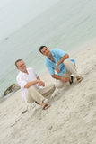 Male Models At The Beach Stock Image