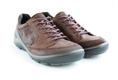 Male modern style jogging shoes. Isolated male modern style jogging shoes Royalty Free Stock Photography