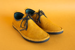 Male modern style mocassin Stock Photos
