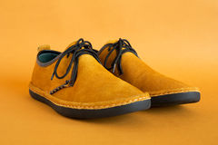 Male modern style moccasin. Pair of male modern style moccasin Royalty Free Stock Photos