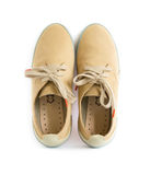 Male modern style shoes. Isolated male modern style shoes Royalty Free Stock Photos