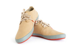 Male modern style shoes. Isolated male modern style shoes Royalty Free Stock Images