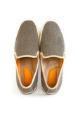 Male modern style shoes. Isolated male modern style shoes Royalty Free Stock Photo