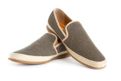 Male modern style shoes. Isolated male modern style shoes Stock Photos