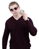 Male with money Stock Image