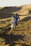 Male Motocross Racer Racing Royalty Free Stock Photography