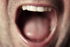Male mouth close up Stock Photos