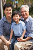 Male Multi Genenration Chinese Family Group stock photo
