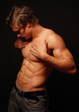 Male muscled model Stock Images