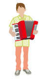 Male Musician - Accordion Royalty Free Stock Images