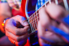 Male Musician with a acoustic Guitar Royalty Free Stock Photos