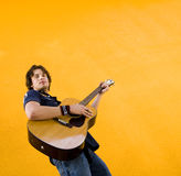 Male musician with guitar stock images