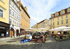 Male Namesti in the centre of Prague. Stock Photo