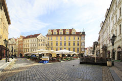 Male Namesti in historical centre of Prague. Royalty Free Stock Image