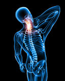 Male neck pain Stock Photography