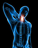 Male neck pain Royalty Free Stock Photo
