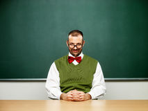 Male nerd in calmness mode Stock Photos