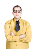 Male nerd in glasses Royalty Free Stock Images