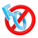 Male not allowed sign isolated Stock Images