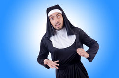 Male nun in funny Royalty Free Stock Photos