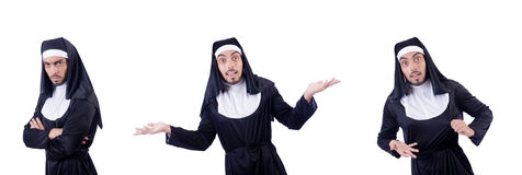 The male nun in funny religious concept Stock Photo